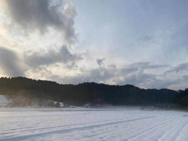 数馬酒造2021年雪景色